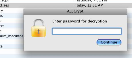 Using AES Crypt - Advanced File Encryption for Mac